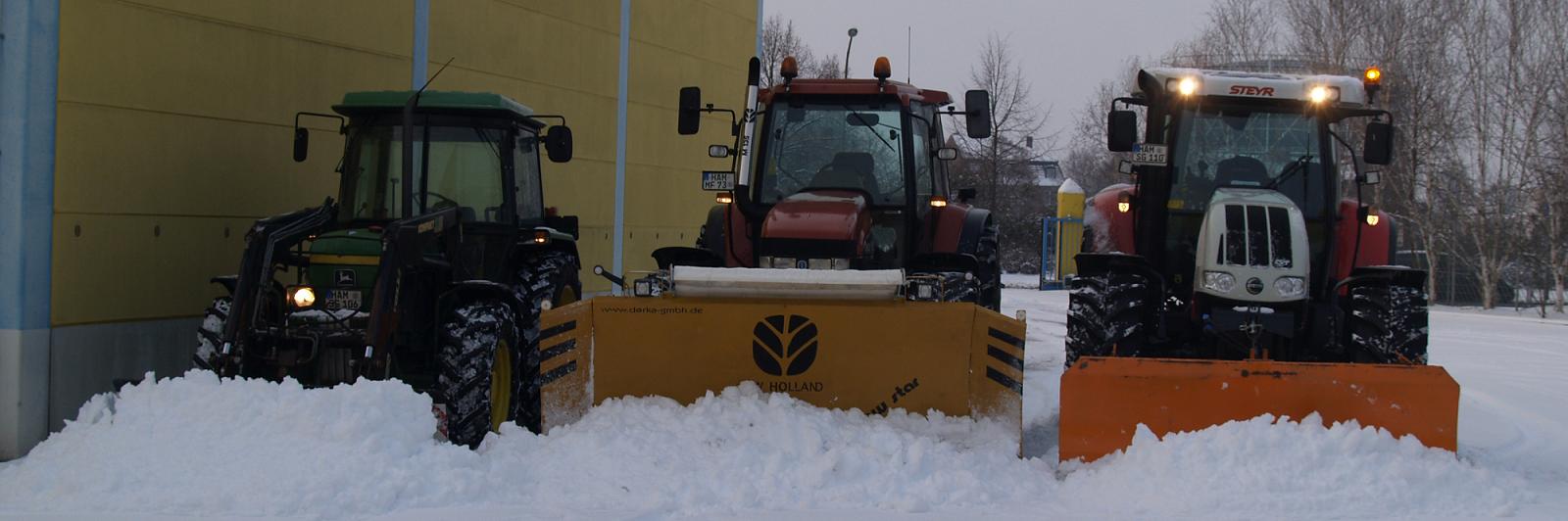 Wir bieten für den Großraum Hamm und Umgebung einen umfassenden Winterdienst an